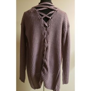 🆕️ Pink Rose Lace Up Cardigan Sweater